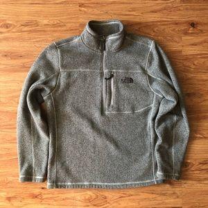 Men's North Face grey fleece half zip